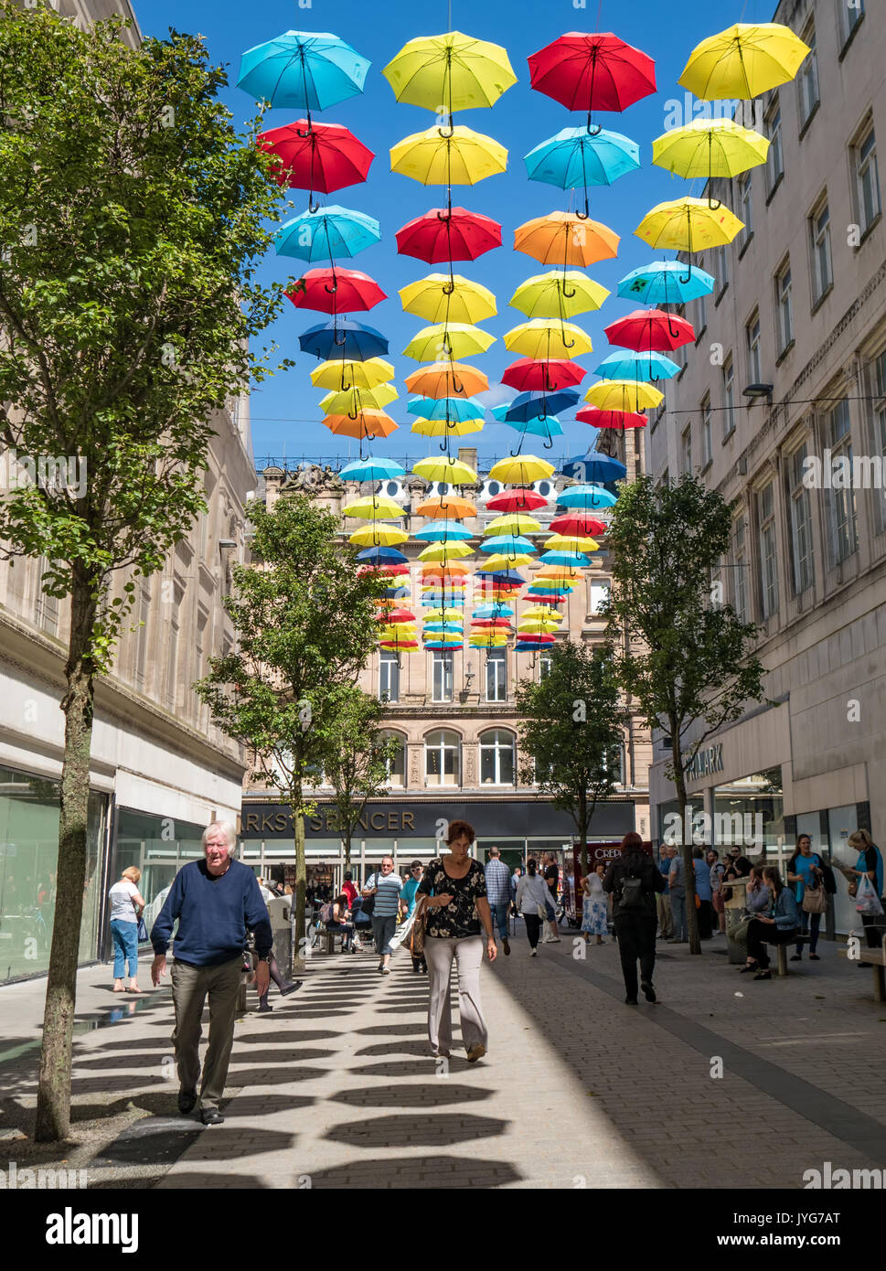 The Umbrella Project - sculpture in Liverpool Stock Photo
