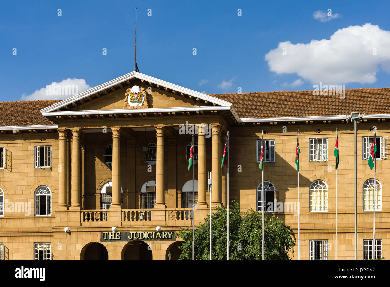 The Supreme Court Judiciary building from KICC square, Nairobi, Kenya Stock Photo