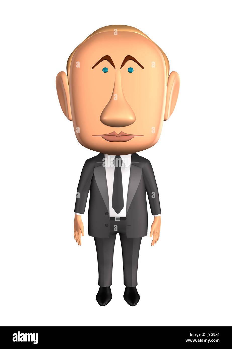 Vladimir Putin standing - Stock Image