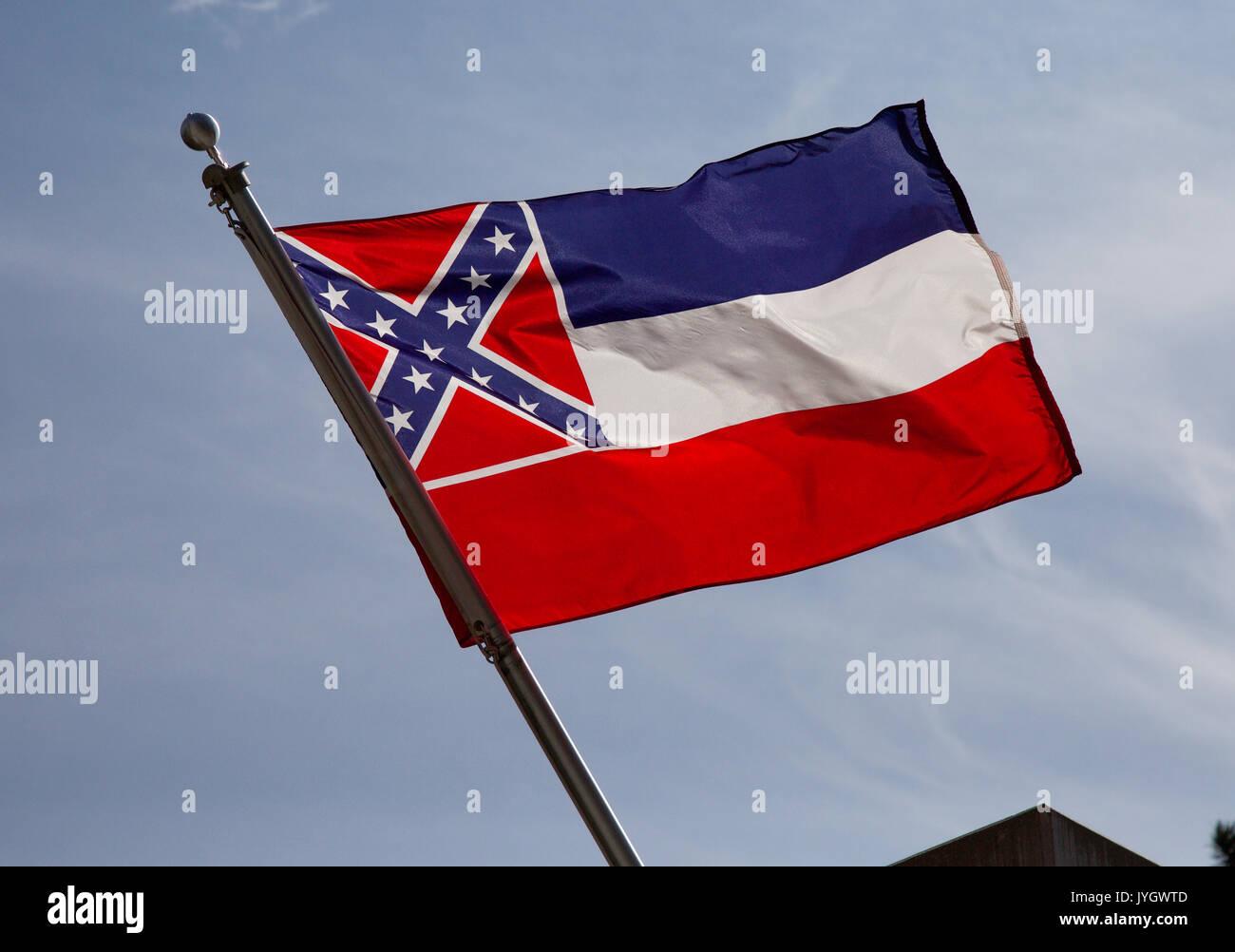 Mississippi State Flag - Stock Image