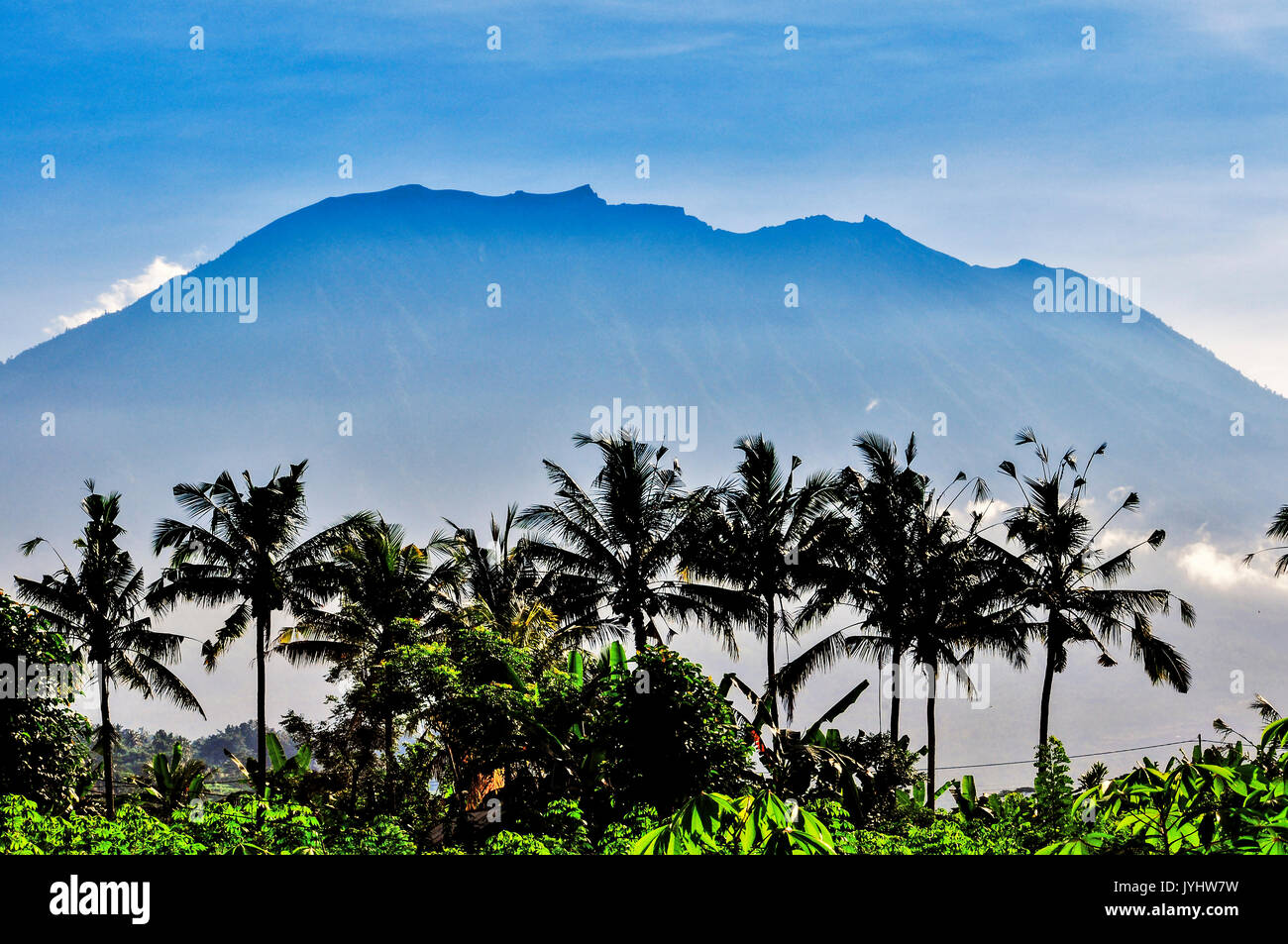 Asia, South-East Asia, Indonesia, Bali. Sidemen. The mount Agung. - Stock Image