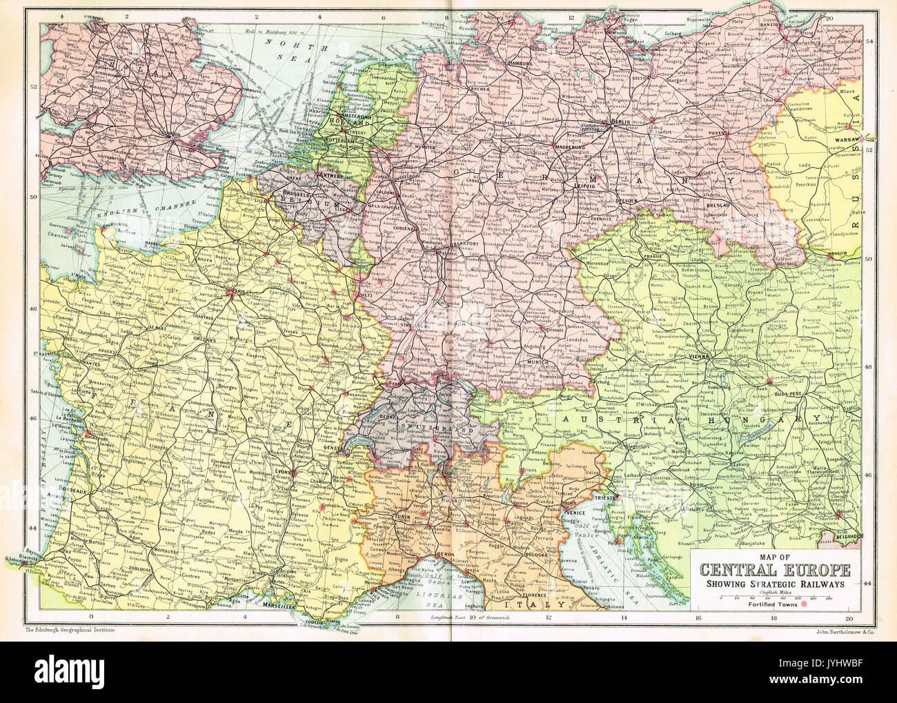 Map Europe World War One Stock Photos & Map Europe World War ...