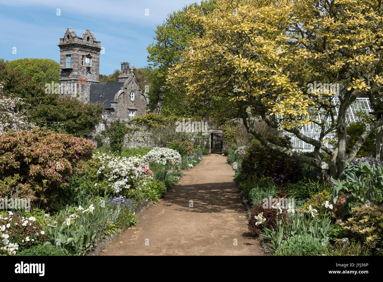 La Seigneurie Gardens Sark Channel Stock Photos & La Seigneurie ...