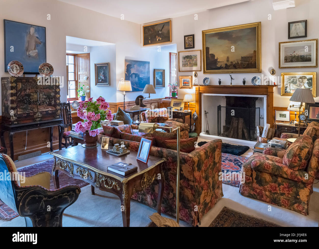 The Tower Room in Cawdor Castle, Cawdor, Nairn, Highland, Scotland, UK - Stock Image