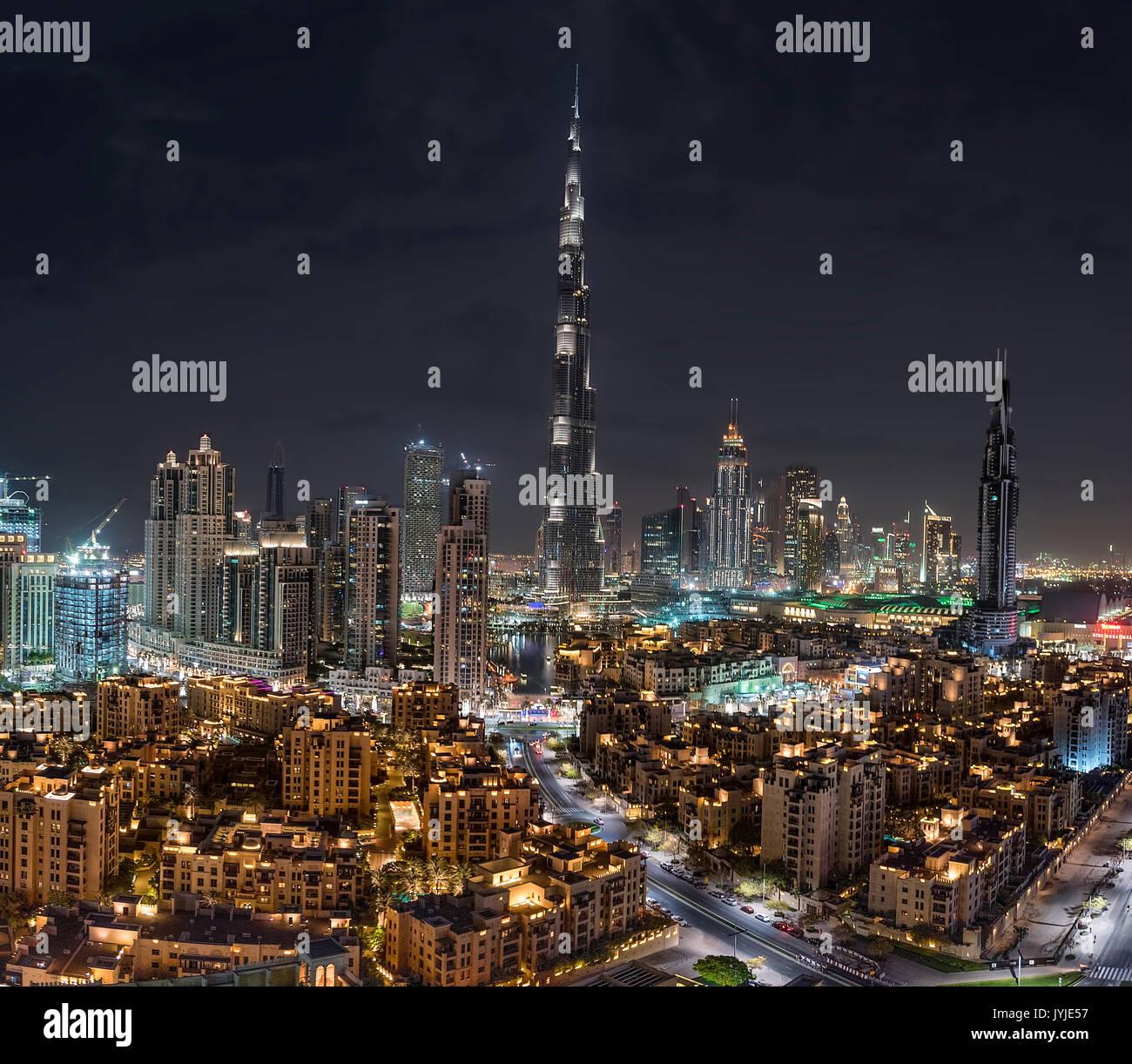 Dubai Downtown - Stock Image