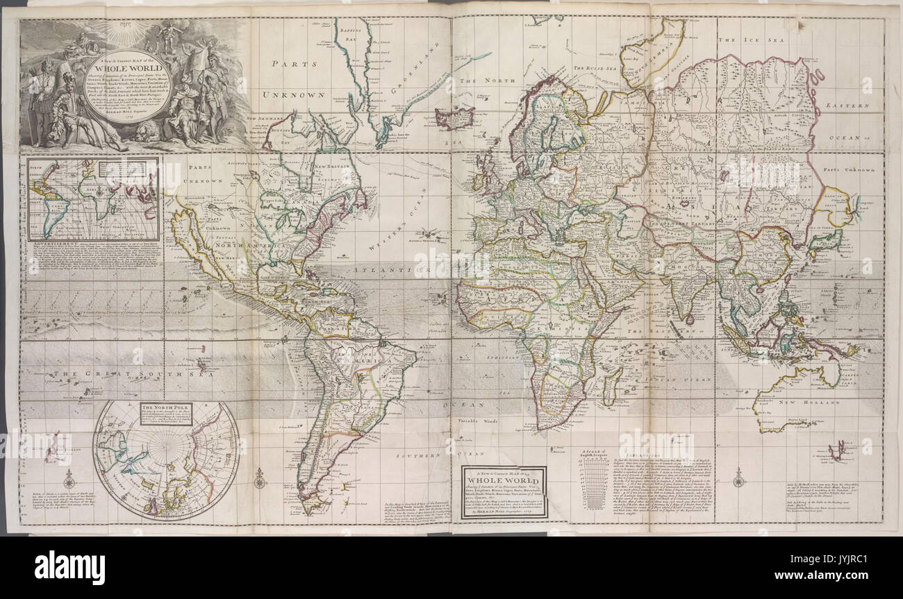 A new and correct map of the whole world, shewing ye situation of ...