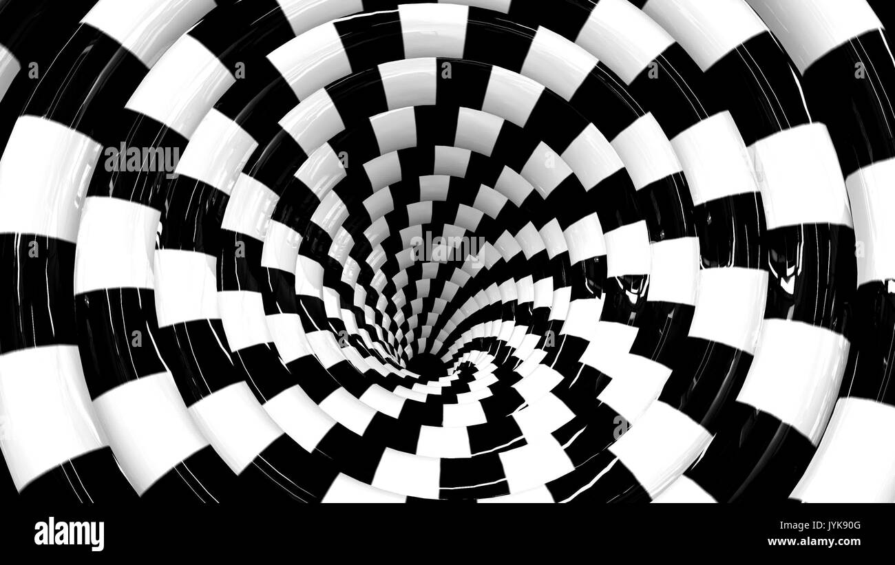 Endless rotating hypnotic spiral loopable video 4K - Stock Image