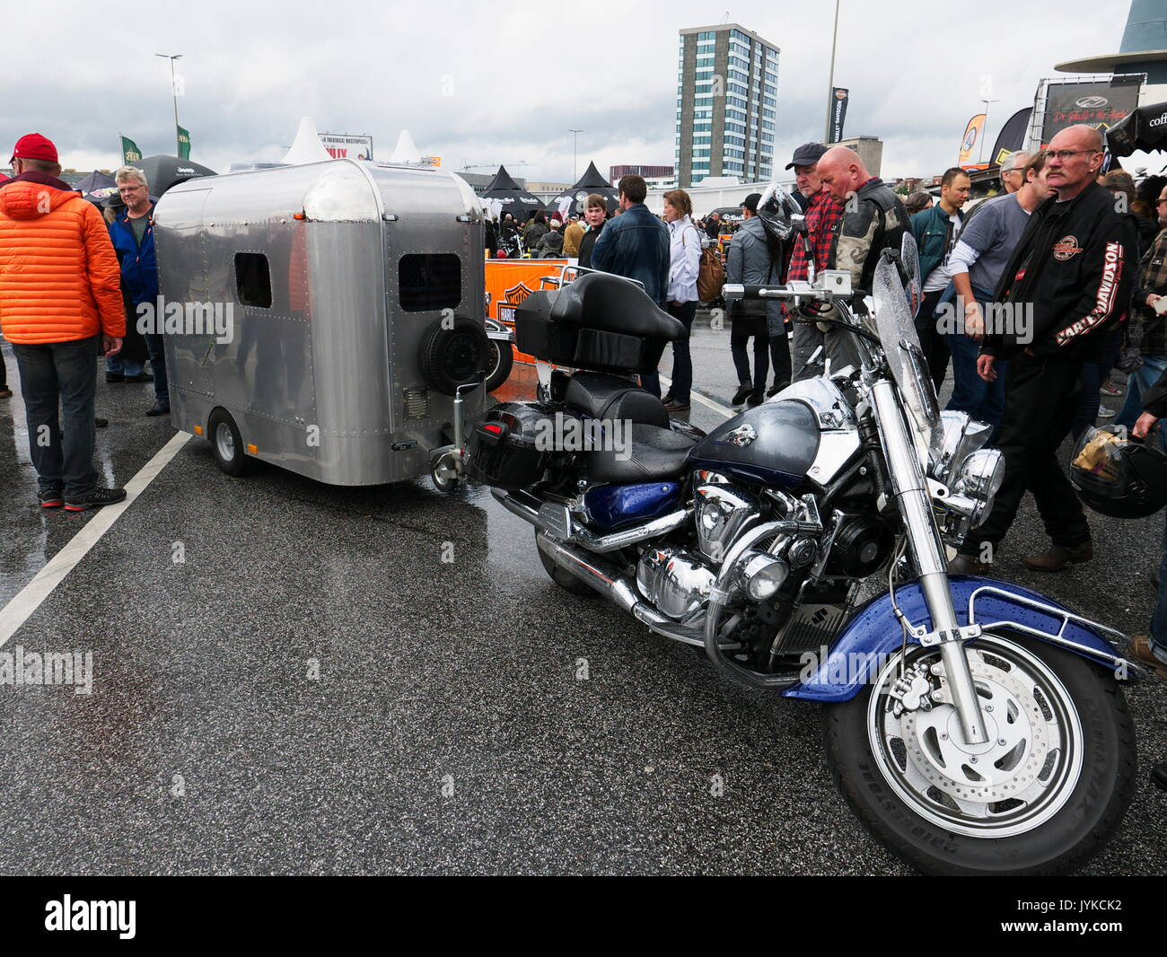 Hamburg Harley Days Biker-City-Event big motorbike motorbiker parade Germany Stock Photo