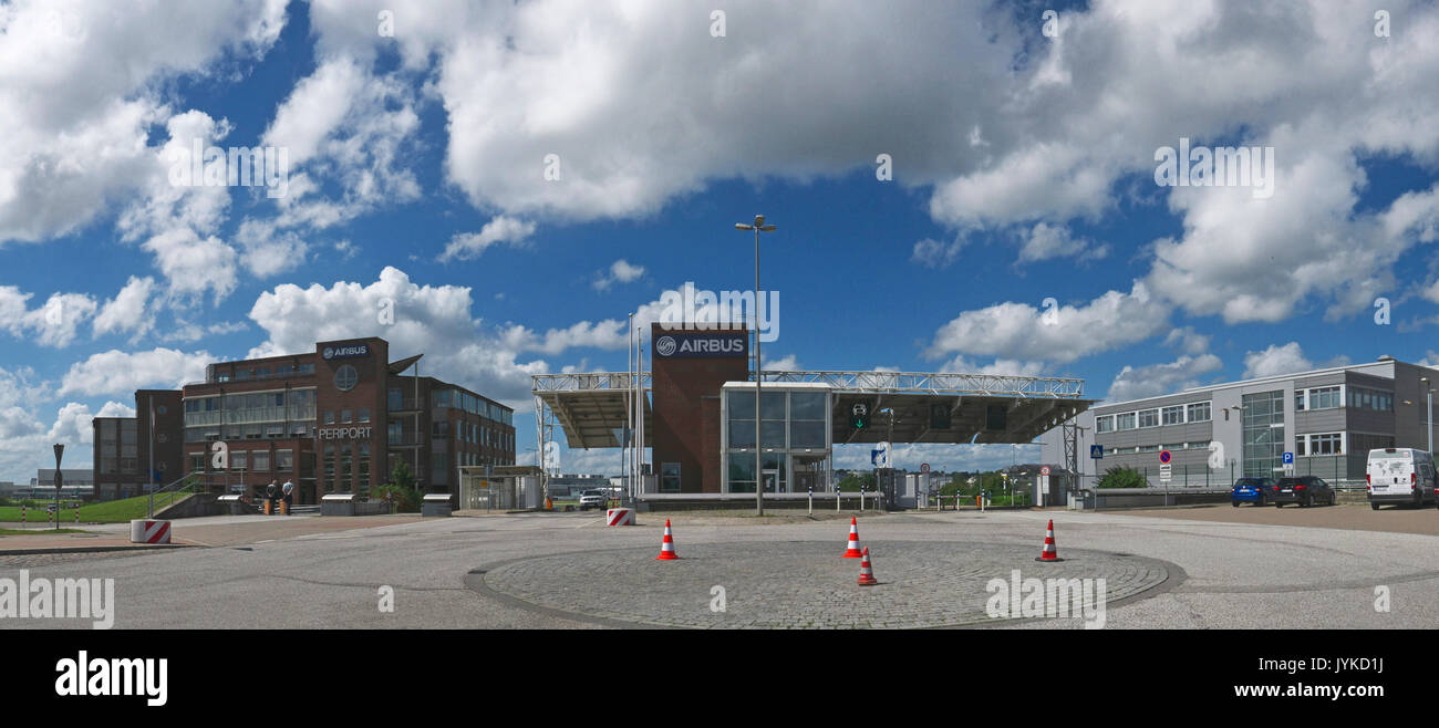 Hamburg Finkenwerder Airbus repair headquarter operation Germany - Stock Image