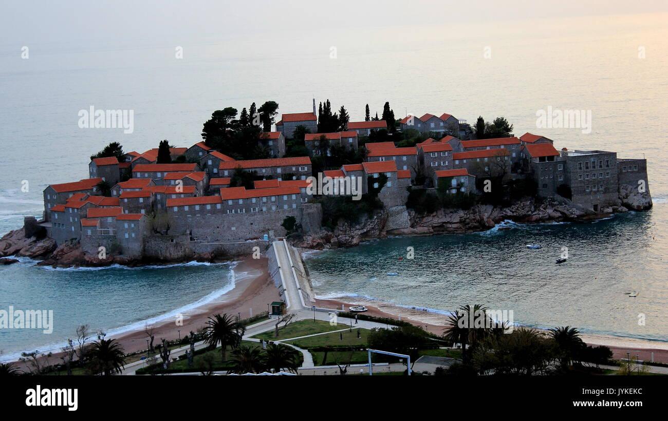 Saint Stephan Island Montenegro - Stock Image