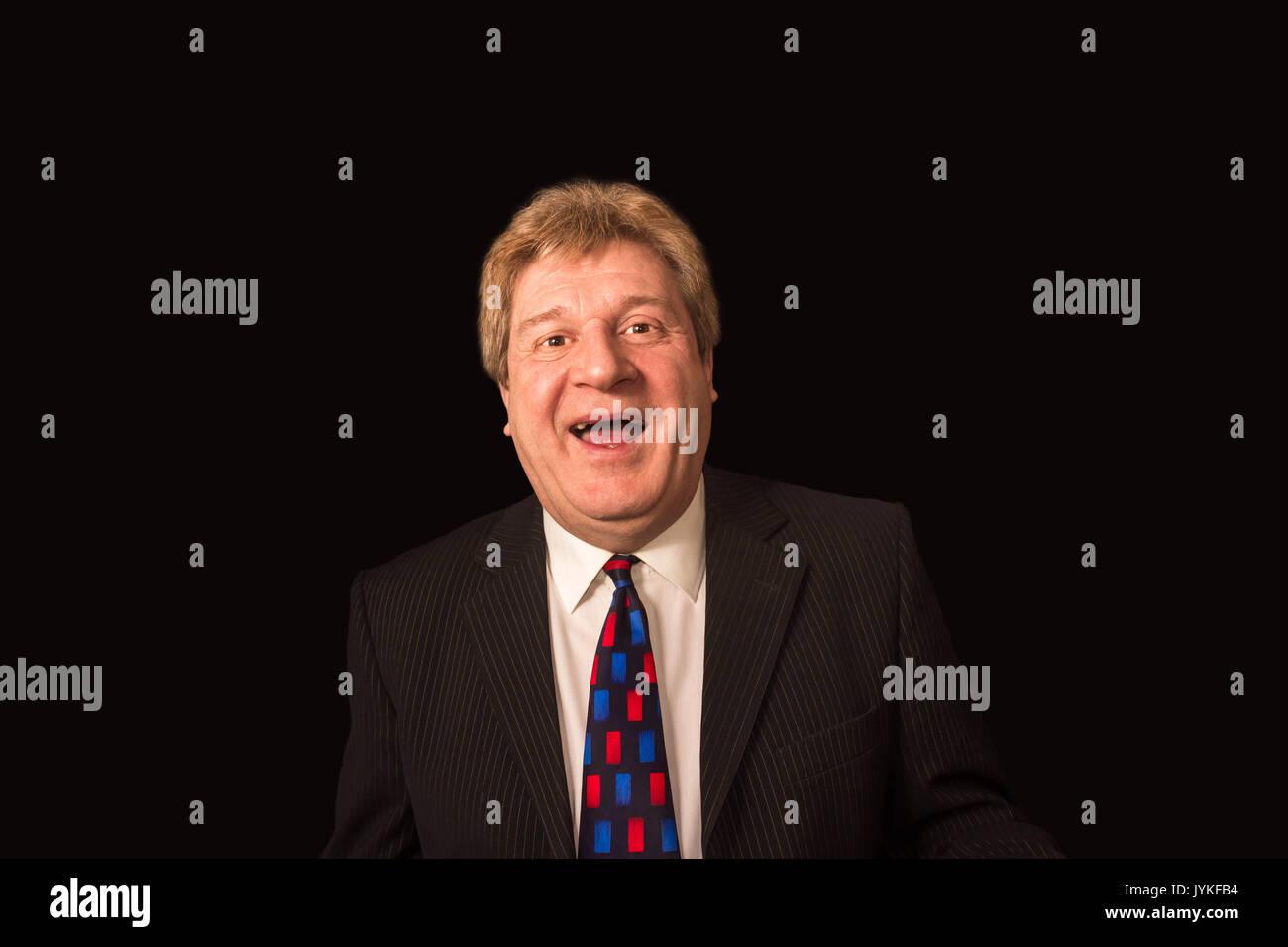 The happy senior businessman Stock Photo