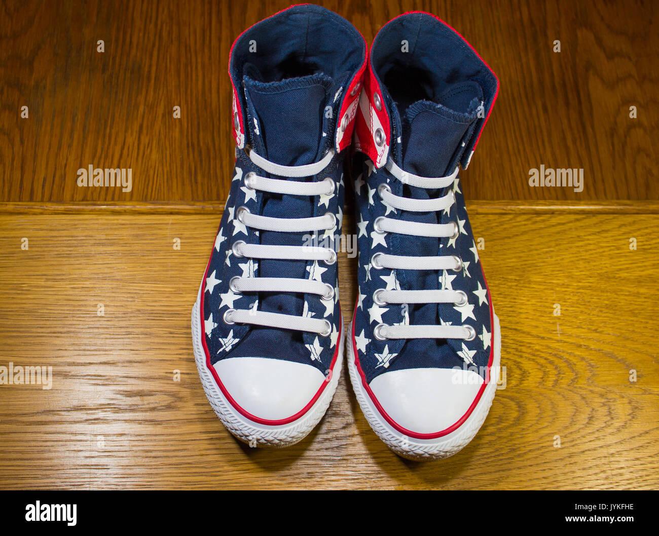 Dnipropetrovsk, Ukraine - June, 13 2016: All Star Converse sneake - Stock Image
