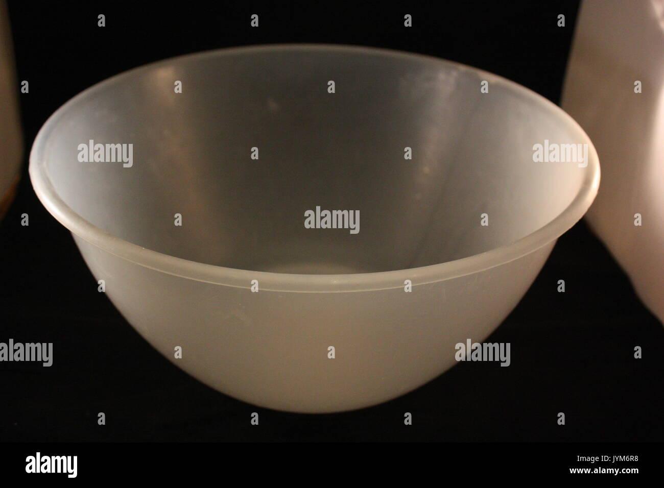 large plastic bowl - Stock Image