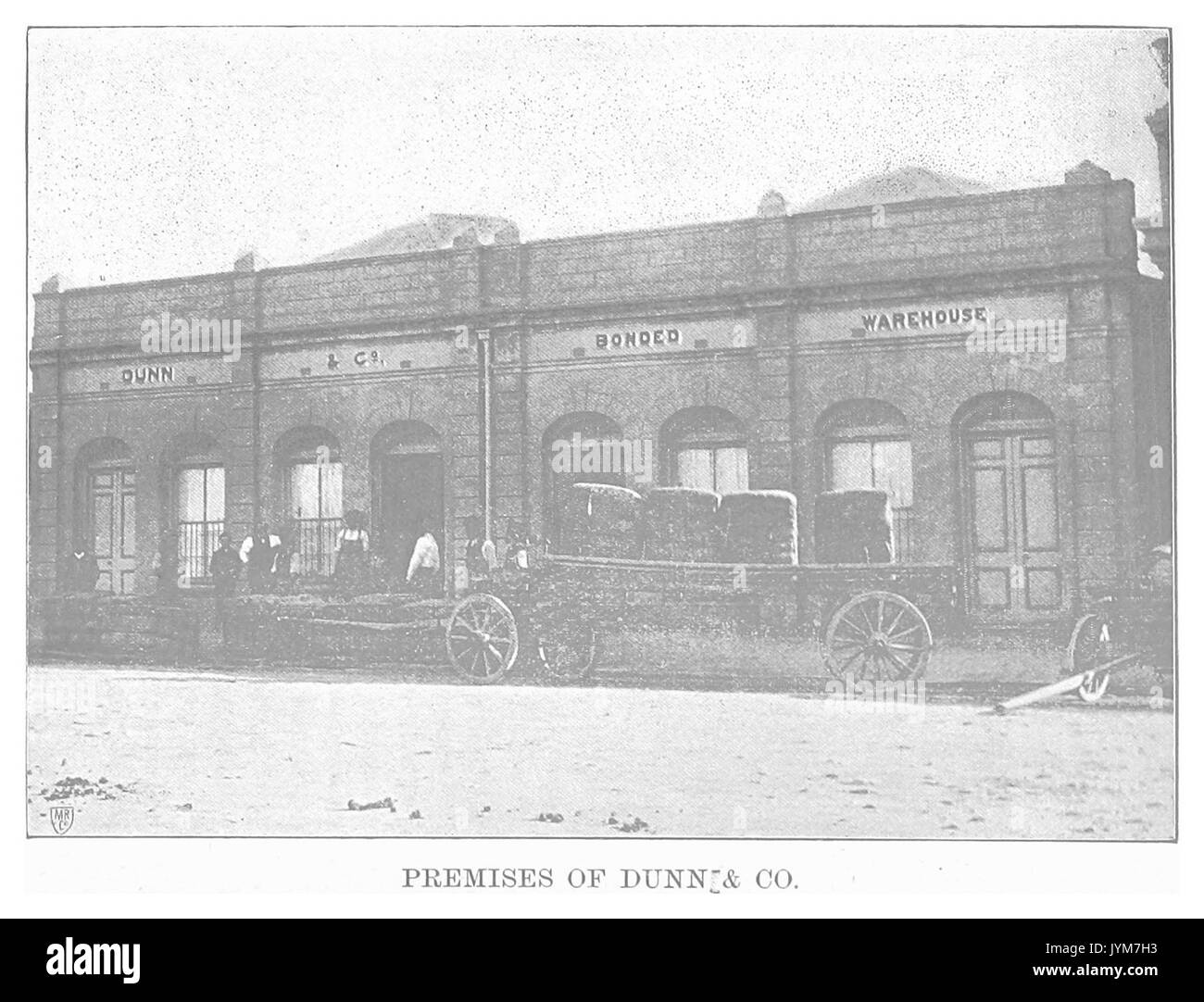 EL1893 pg055 Premises of Dunn and Co - Stock Image