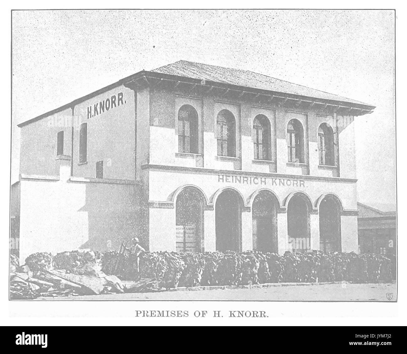 EL1893 pg121 Premises of H. Knorr - Stock Image