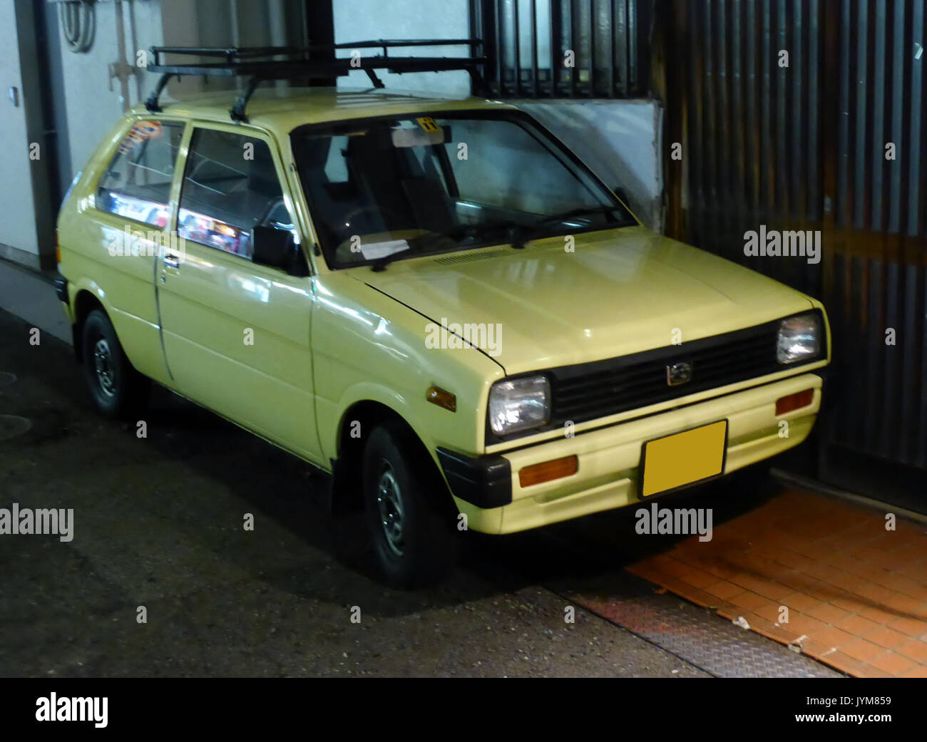 2nd Generation Subaru Rex U At Night Front Stock Photo 154724117