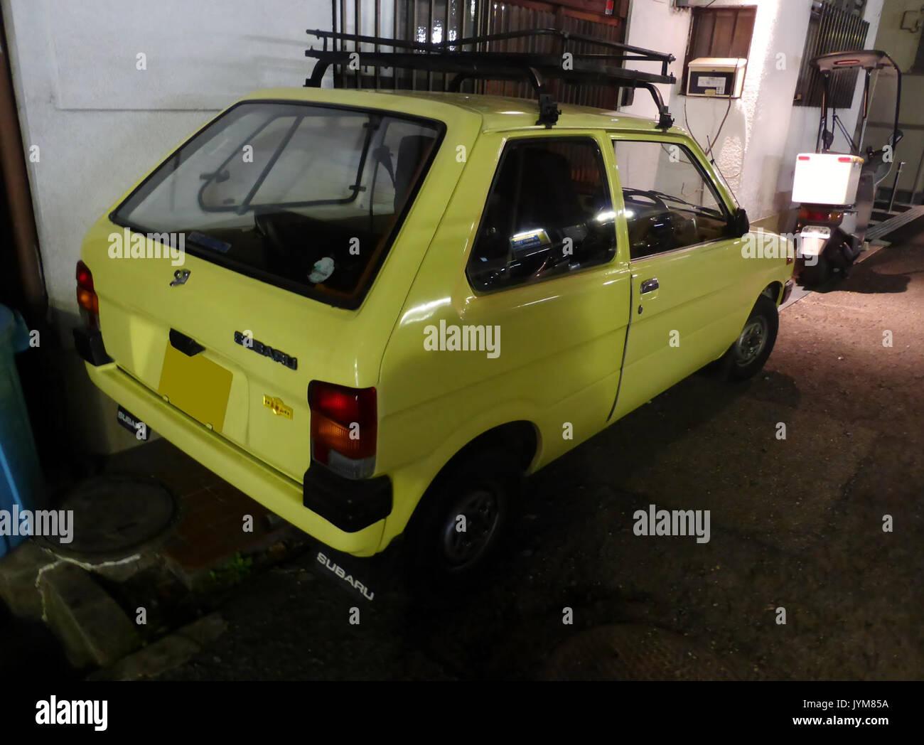 2nd Generation Subaru Rex U At Night Rear Stock Photo 154724118 Alamy