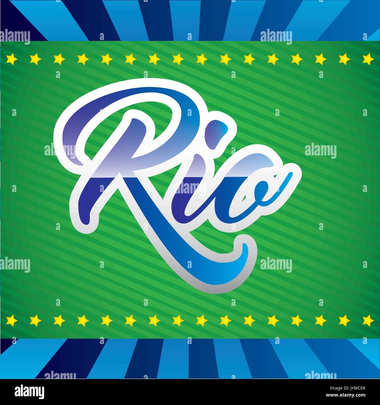games rio design  vector illustration - Stock Vector