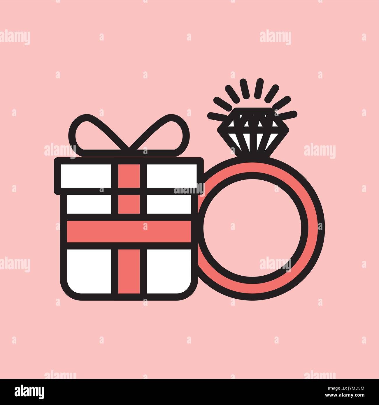 Wedding Ring Background Invitation Stock Vector Images - Alamy