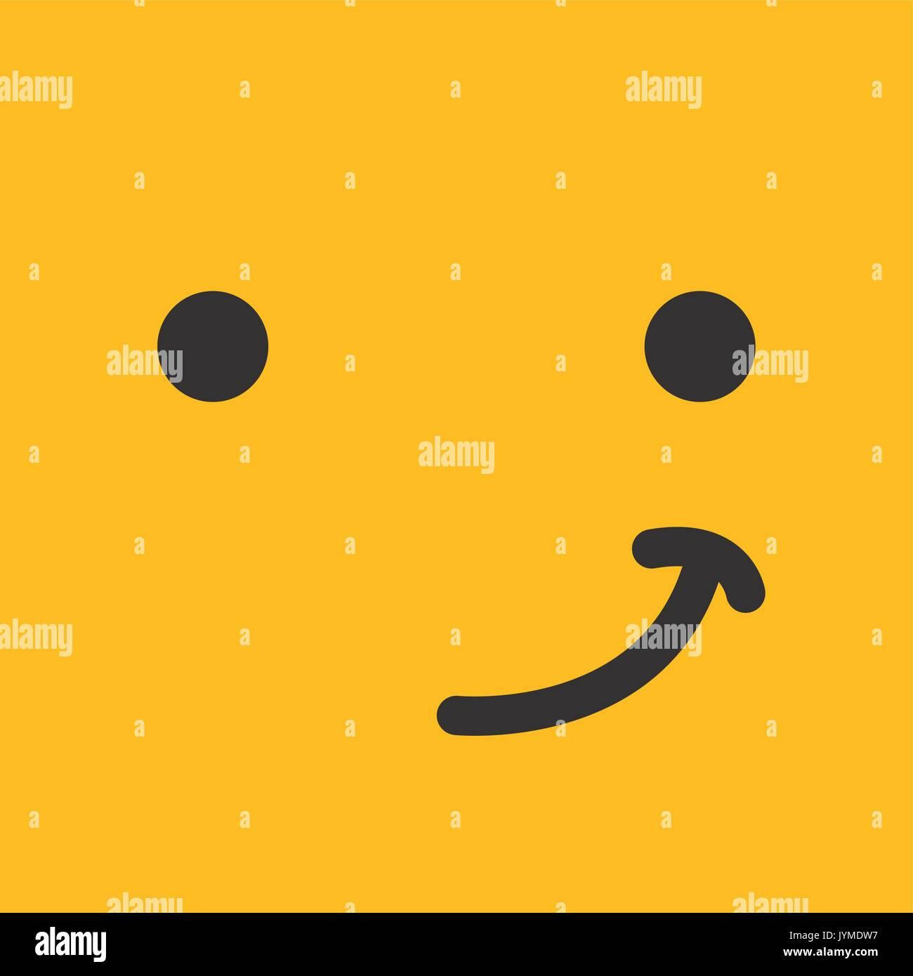 emoticon face design - Stock Vector