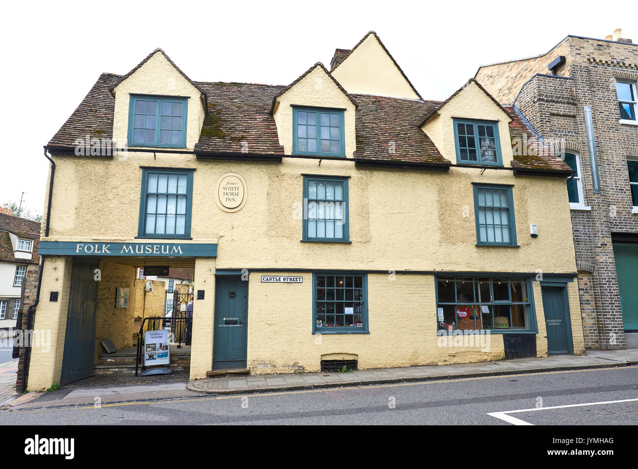 Museum Of Cambridge One Of The Oldest Social History Museum In The UK, Castle Street, Cambridge, UK - Stock Image