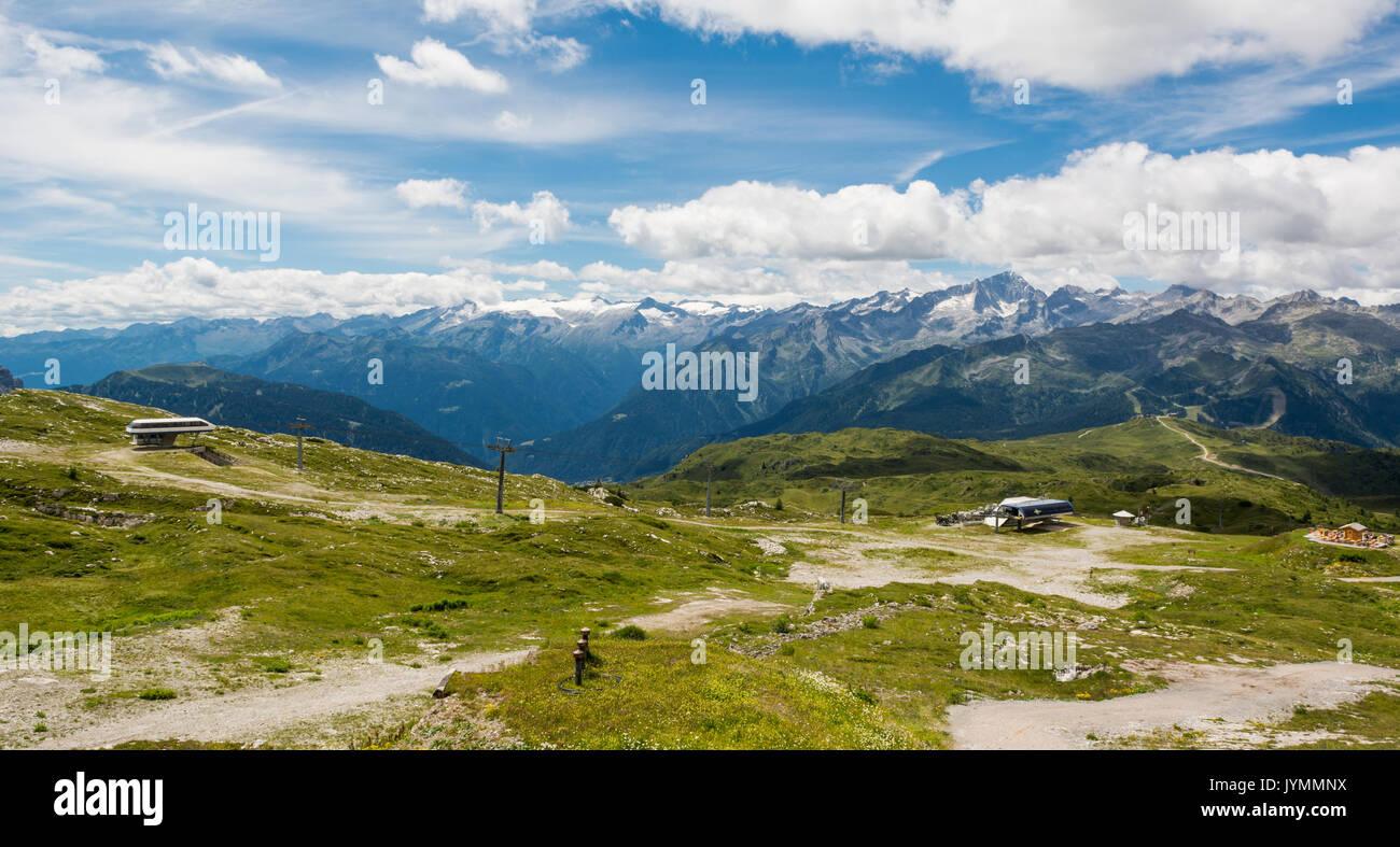 Ski resort in summer. - Stock Image