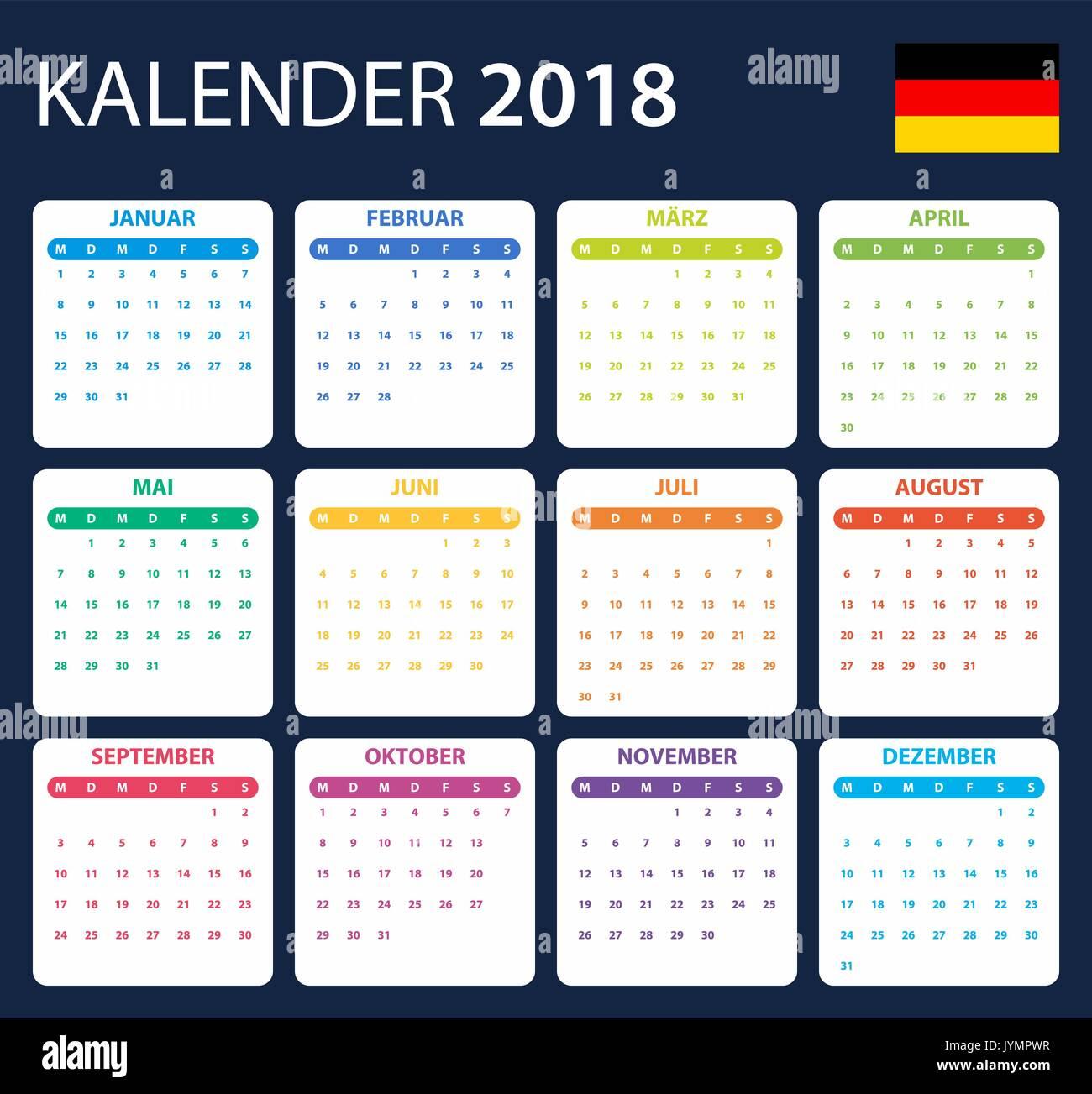 Calendar Template German