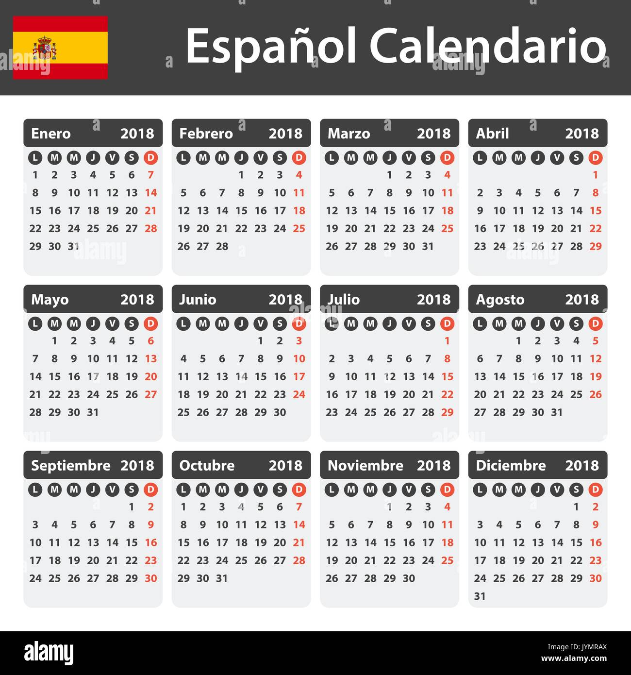 Weekly Calendar In Spanish : Spanish daily planner stock photos