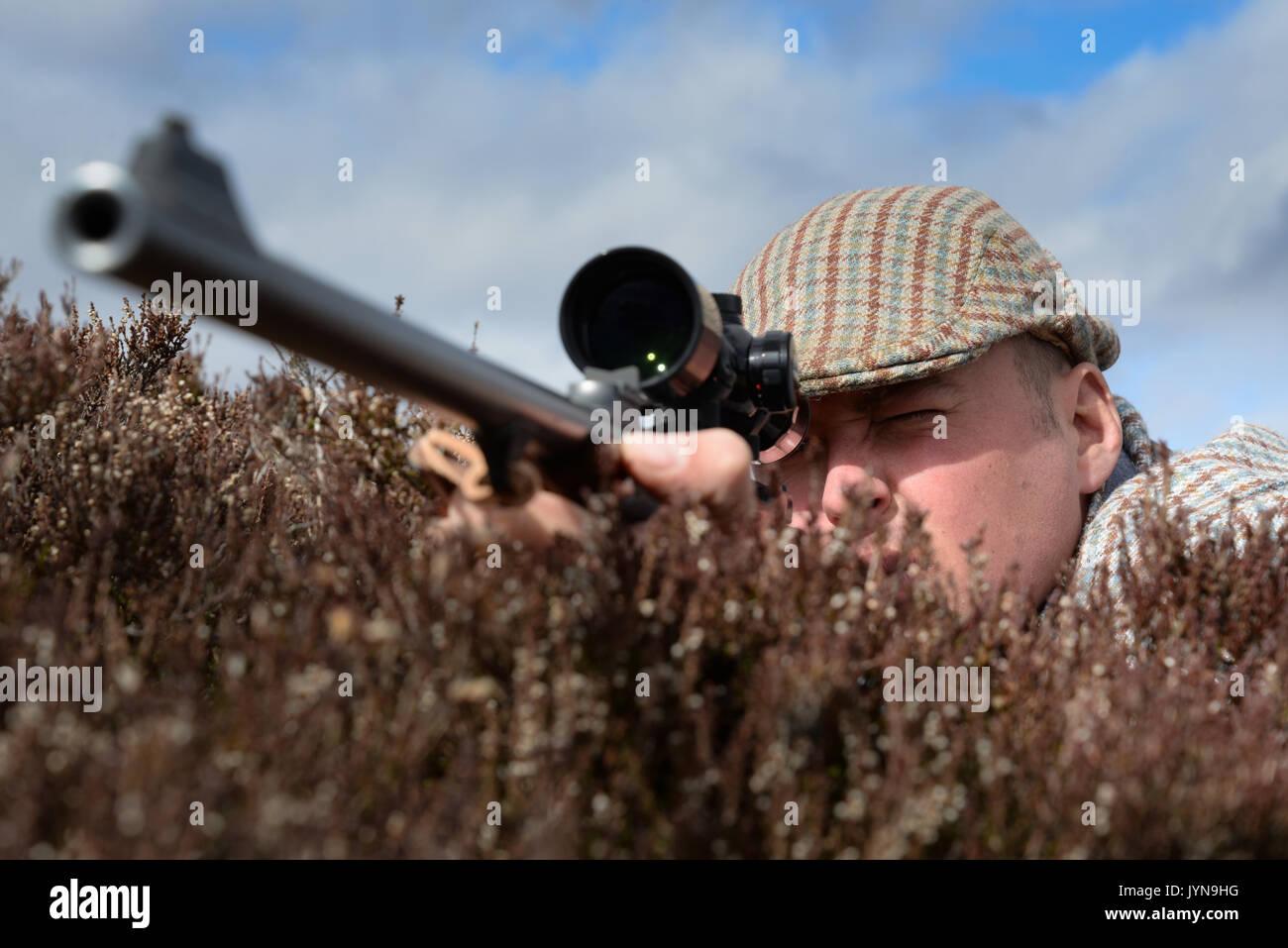 Deer stalking on the Blair Atholl estate in Scotland - Stock Image