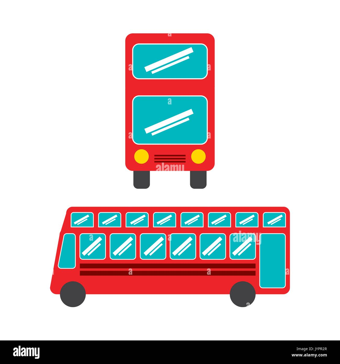 bus concept isolated design  - Stock Image