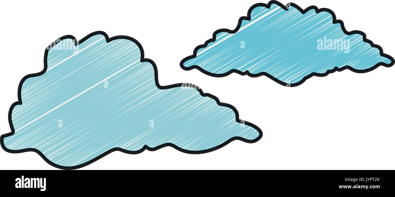 clouds icon image - Stock Image