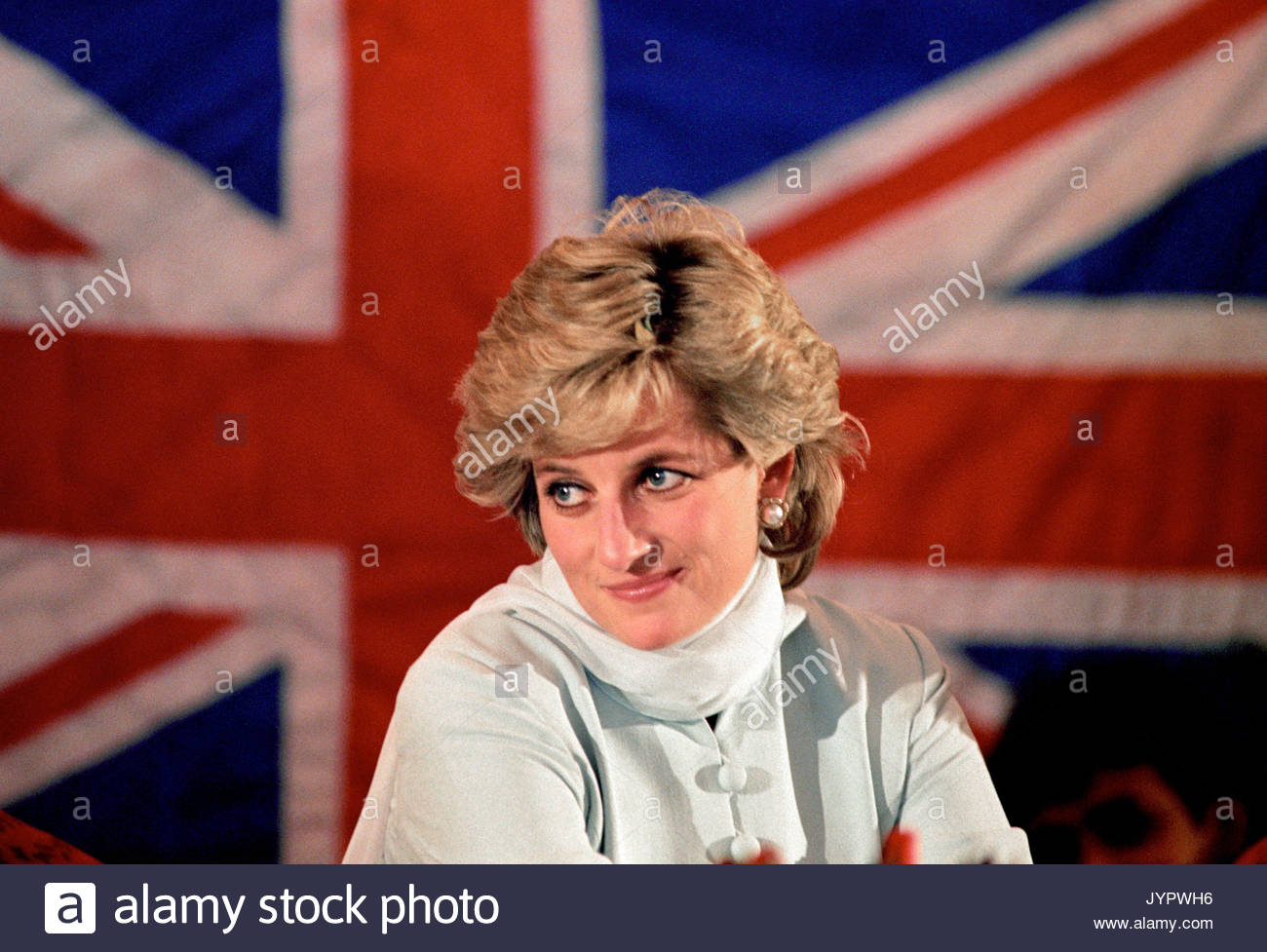 """Embargoed to 0001 Monday August 21 File photo dated 22/02/96 of Diana, Princess of Wales whose warmth, compassion and empathy for those she met earned her the description the """"people's princess"""". - Stock Image"""