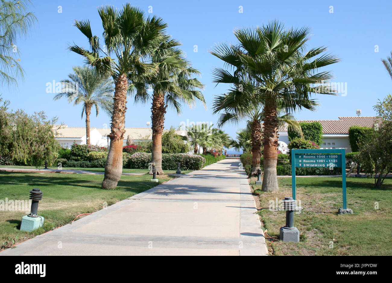 Path in resort hotel - Stock Image