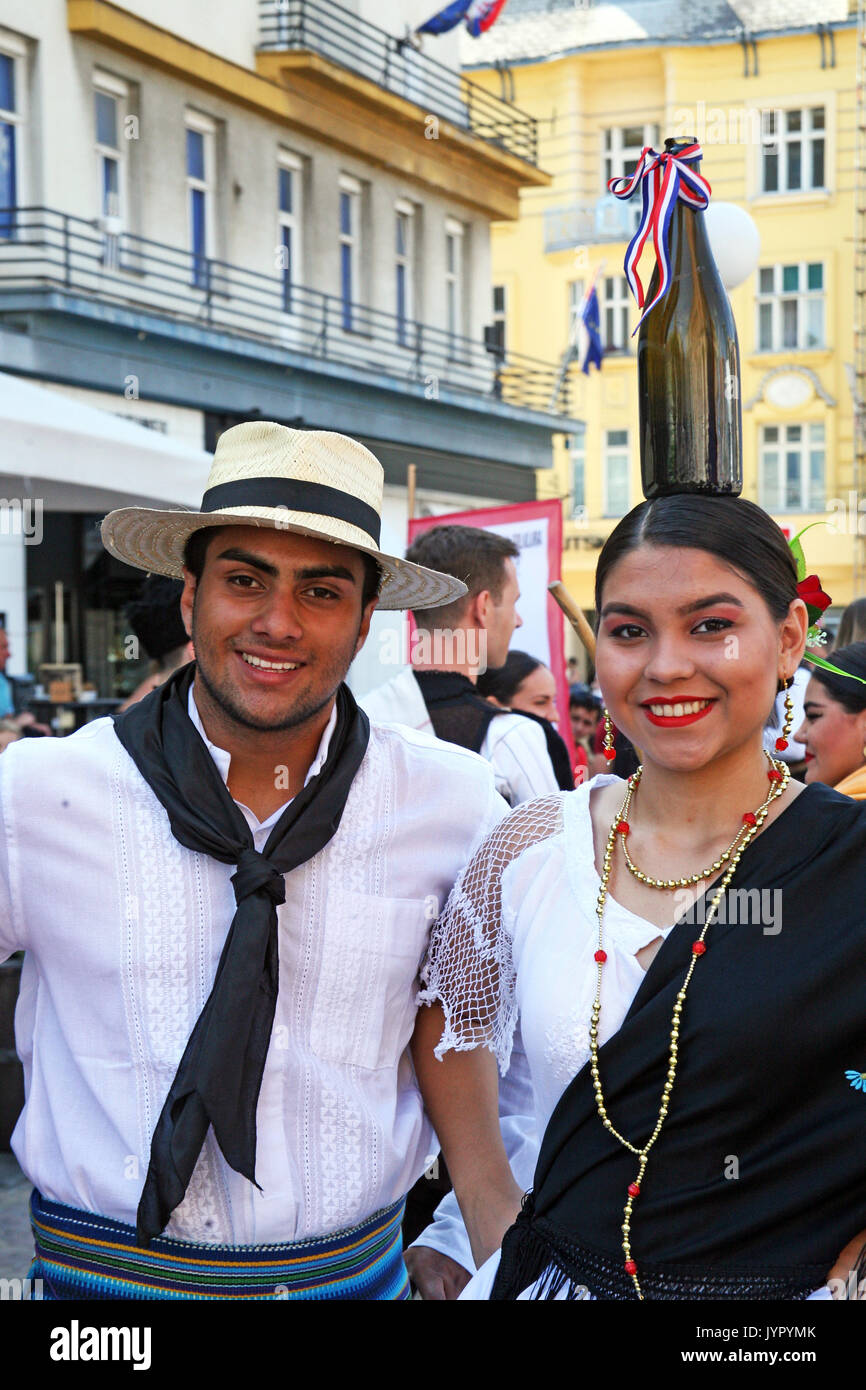International Folklore Festival 2017,Paraguay,Luque,'Alma Guarani',Zagreb,Croatia,Europe,116 - Stock Image