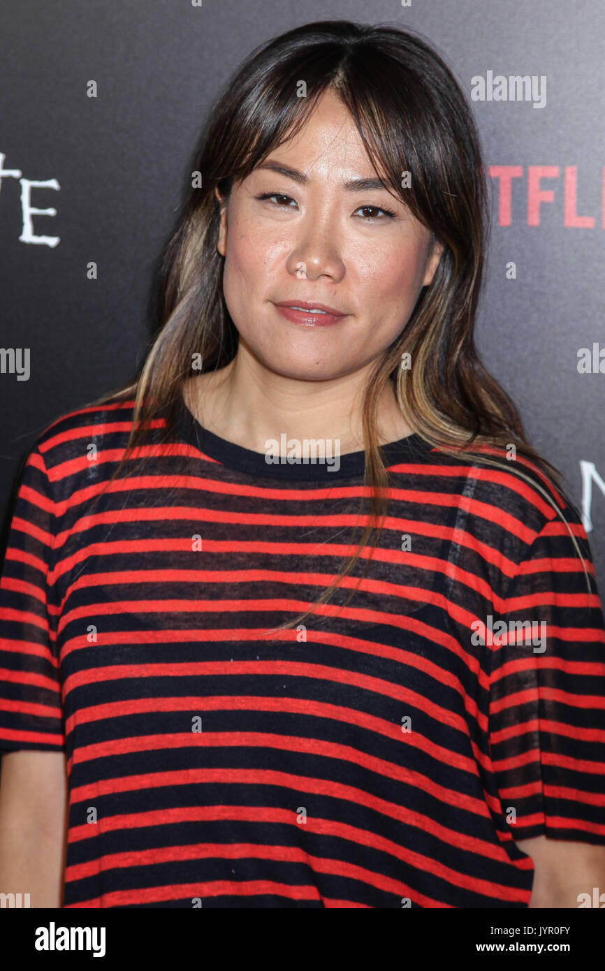 NEW YORK, NY - AUGUST 17: Producer Miri Yoon attends the 'Death Note' New York premiere at AMC Loews Lincoln Square 13 theater on August 17, 2017 in N - Stock Image