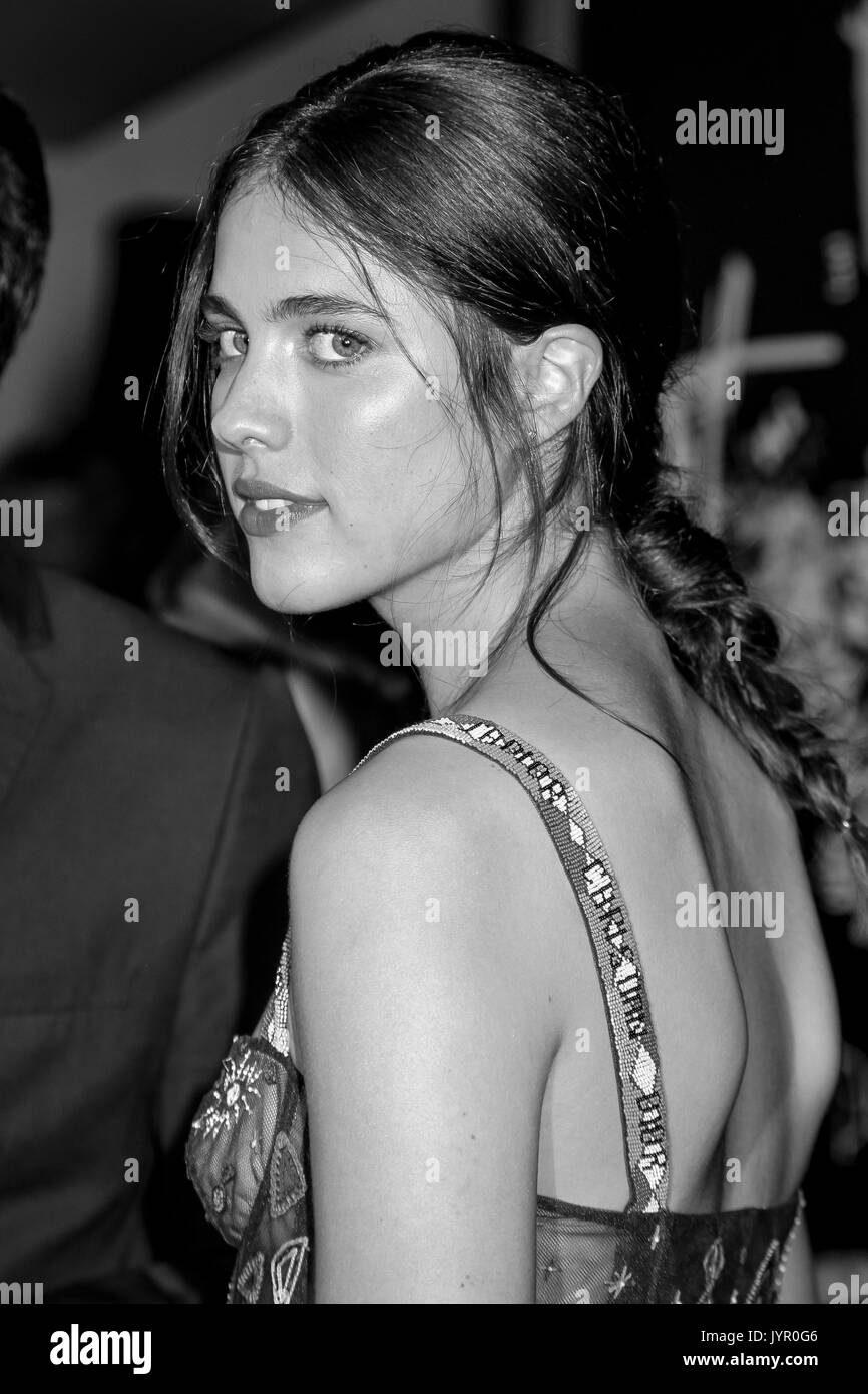 NEW YORK, NY - AUGUST 17: Actress Margaret Qualley attends the 'Death Note' New York premiere at AMC Loews Lincoln Square 13 theater on August 17, 201 - Stock Image