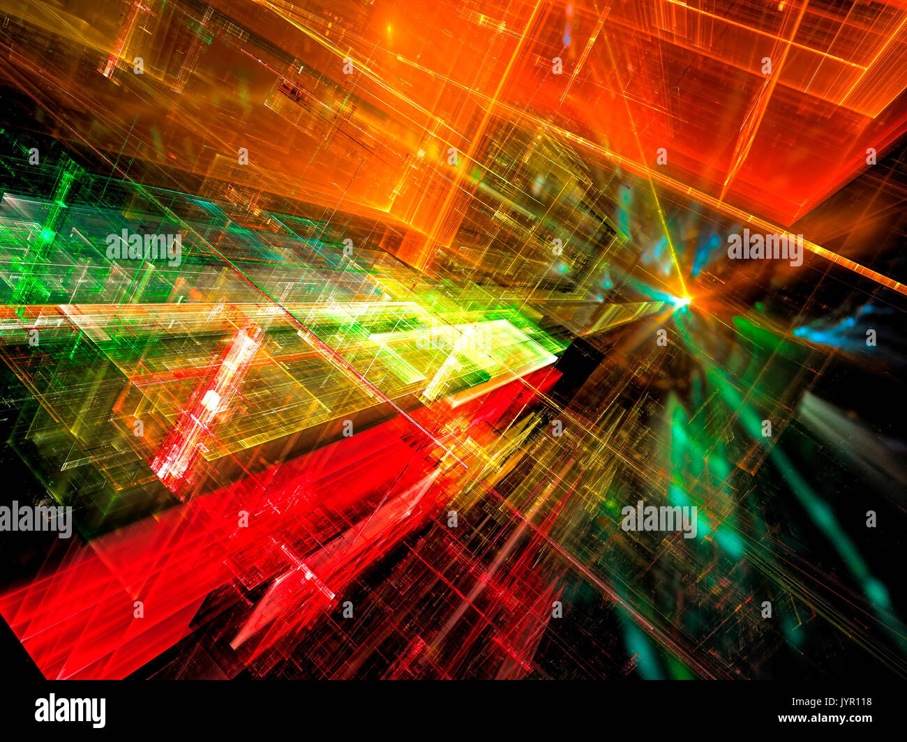 Sci fi background - abstract digitally generated image - Stock Image