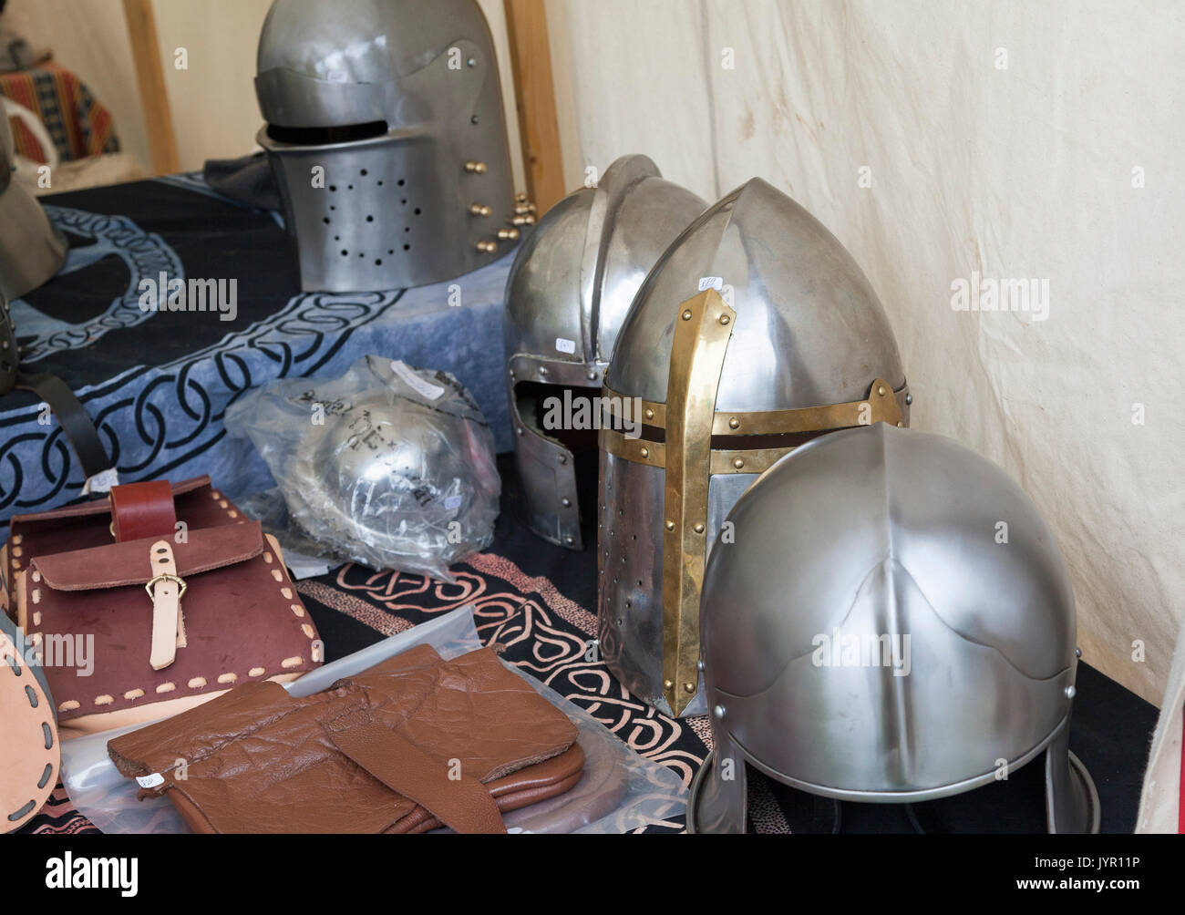 Medieval Helmets Stock Photos & Medieval Helmets Stock