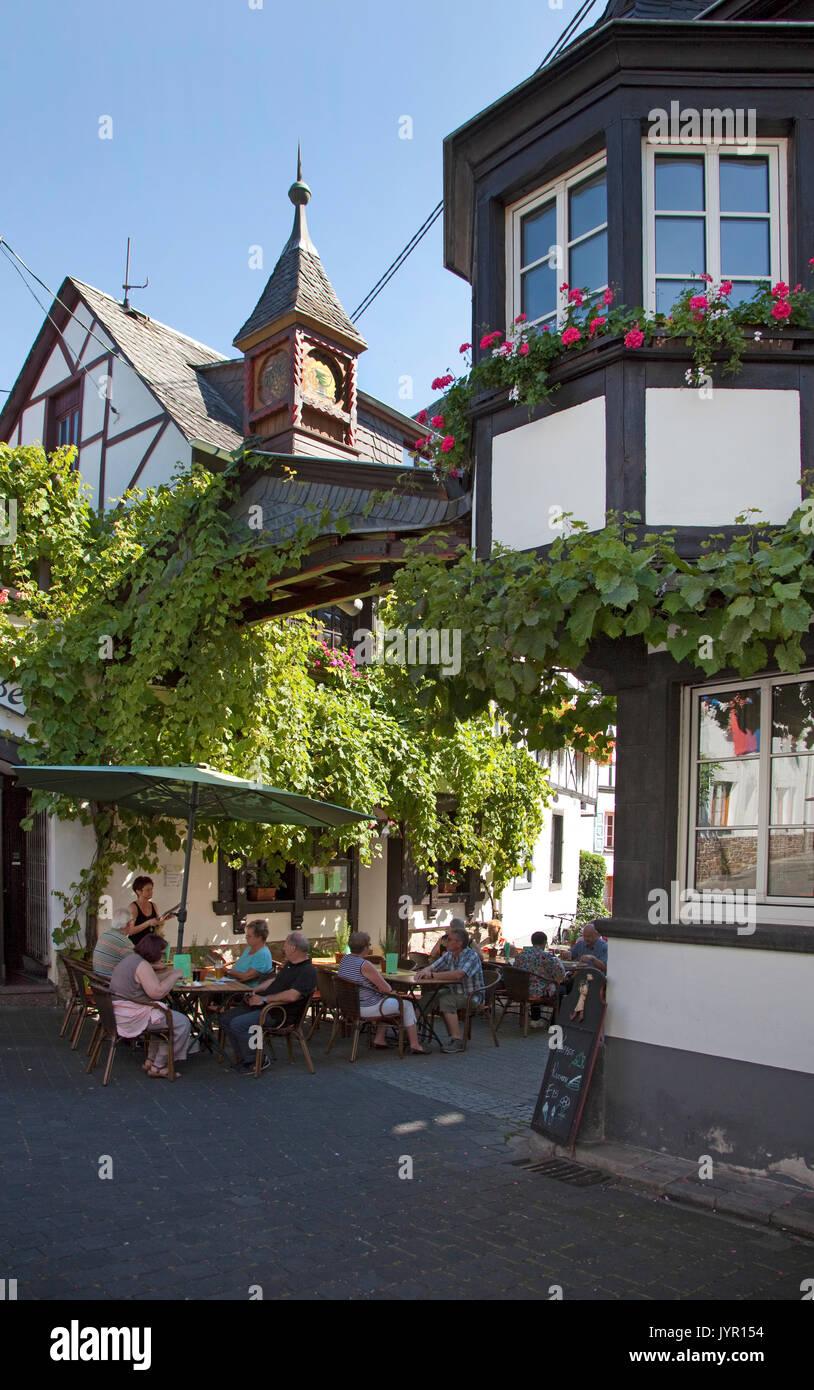 Wine festival at the wine village Winningen, Rhineland-Palatinate, Germany - Stock Image