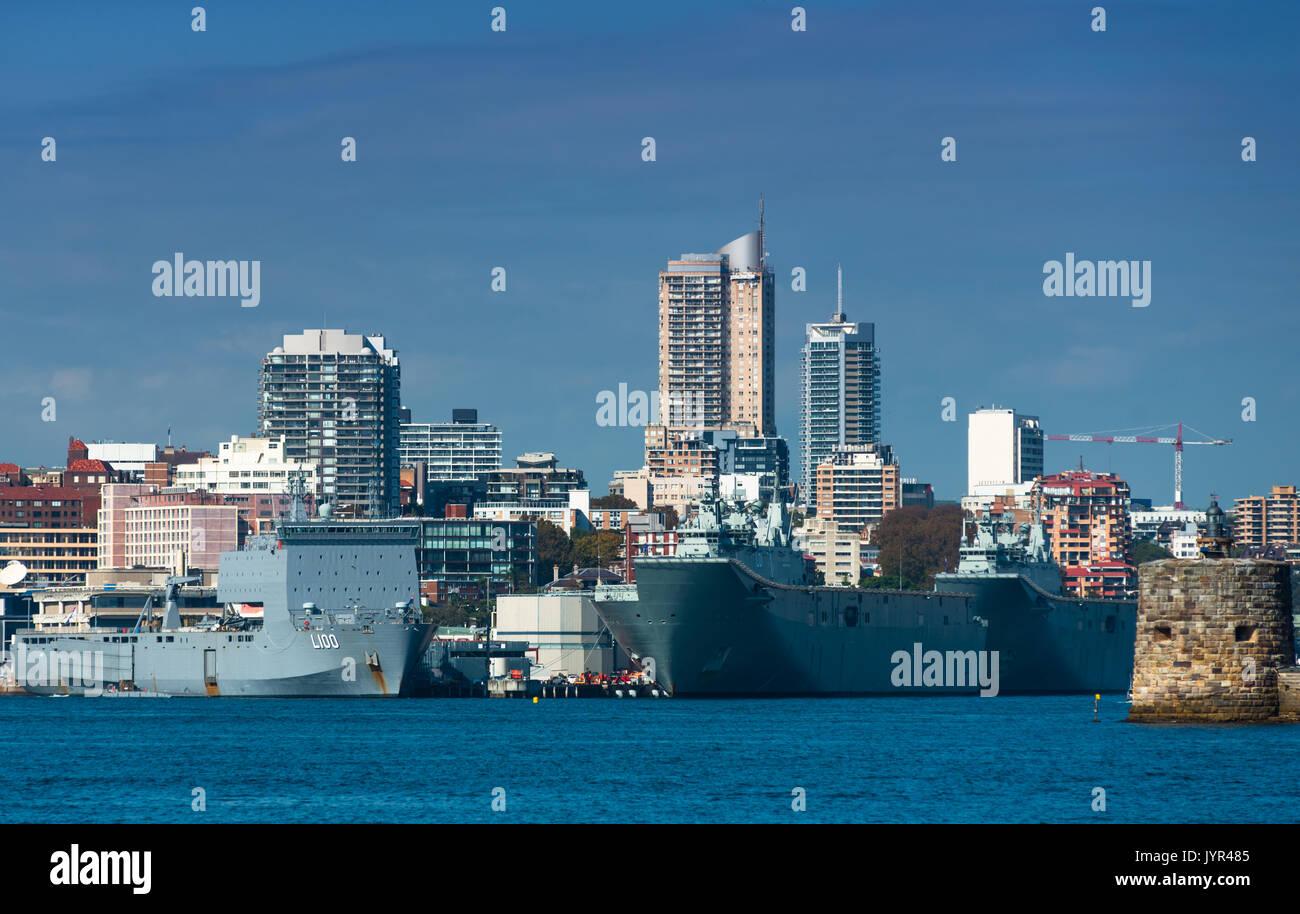 Garden Island Naval base, Sydney, New South Wales, Australia. - Stock Image