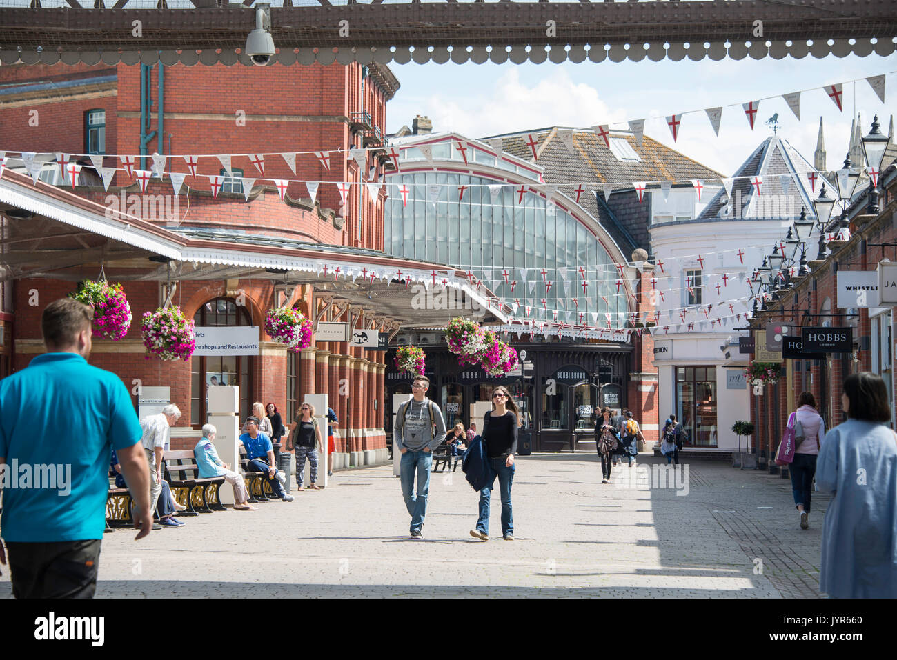 Victorian Windsor Royal Shopping Arcade, Goswell Hill, Windsor, Berkshire, England, United Kingdom - Stock Image