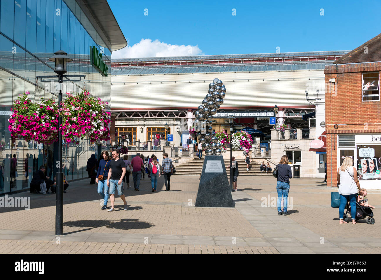 Windsor Royal Shopping Arcade from Bridgewater Way, Windsor, Berkshire, England, United Kingdom - Stock Image