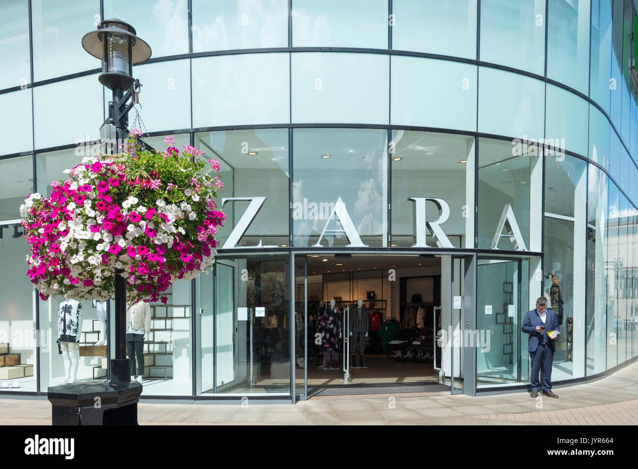 Zara fashion store, King Edward Court, Bridgewater Way, Windsor, Berkshire, England, United Kingdom - Stock Image
