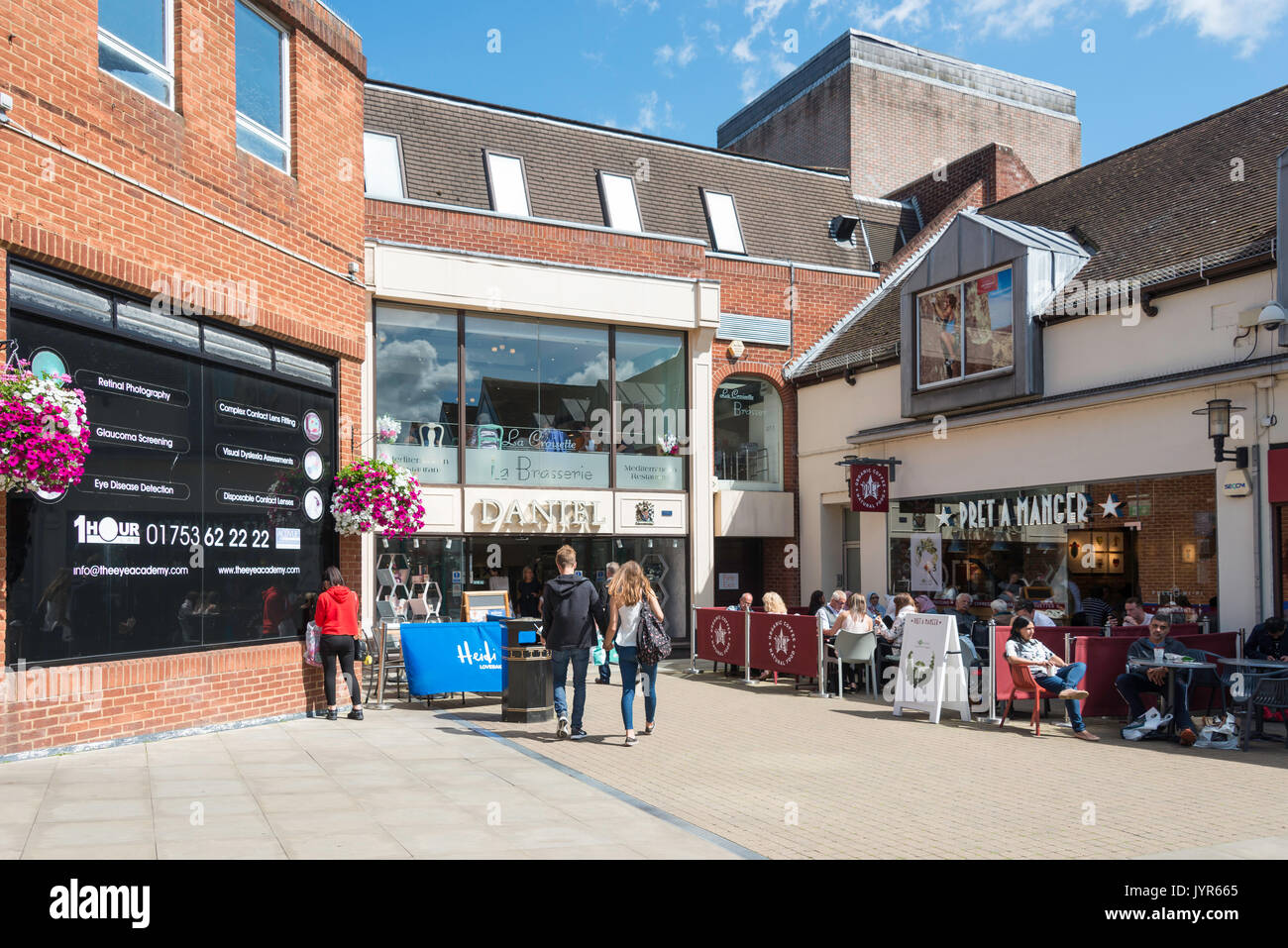 Entrance to Daniel Department Store, Bridgewater Way, Windsor, Berkshire, England, United Kingdom - Stock Image