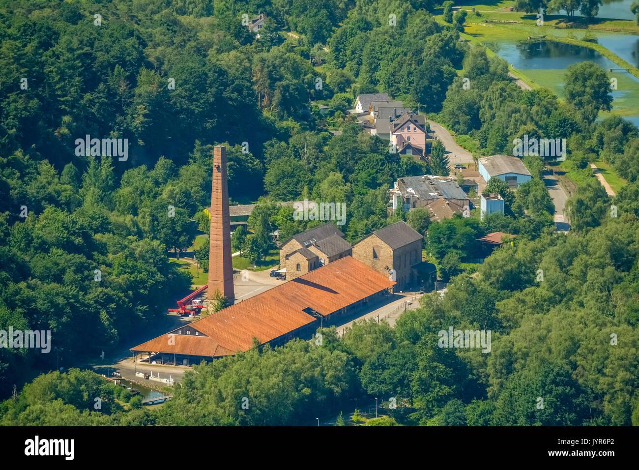 LWL Industrial Museum Nightingale Colliery, Cafe Nightingale, Muttental, Muttentalstraße, Witten, Ruhrgebiet, North Rhine-Westphalia, Germany, Europe, - Stock Image