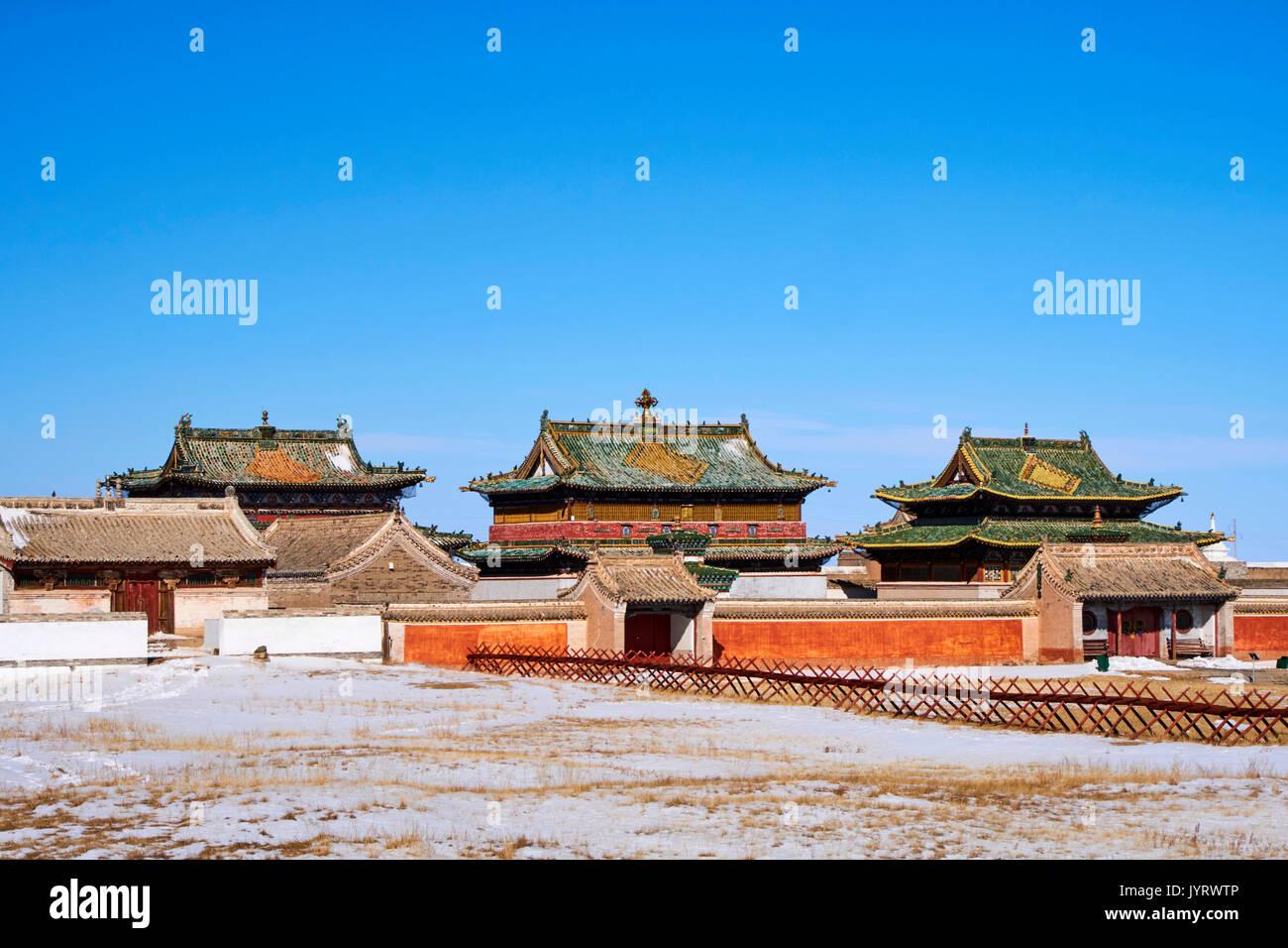Mongolia, Ovorkhangai, Kharkhorin, Erdene Zuu Monastery, Orkhon valley, Unesco world heritage - Stock Image