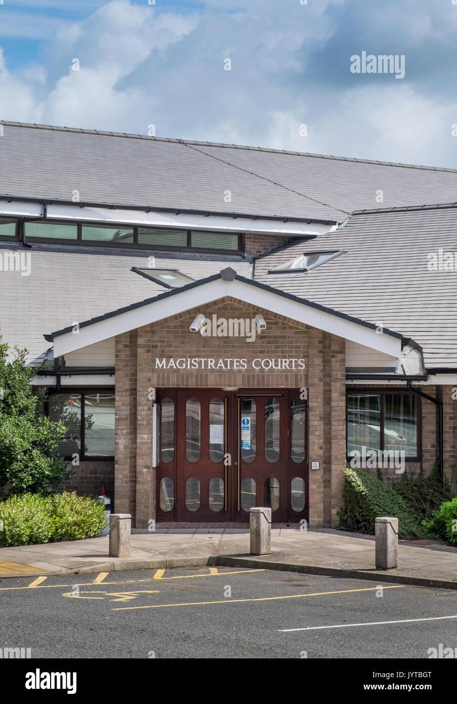 Truro Magistrate's Court, Truro, Cornwall, UK - Stock Image