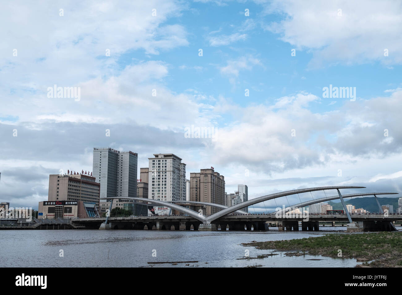 Yanji, China – August 8, 2017: Yanji is the seat of the