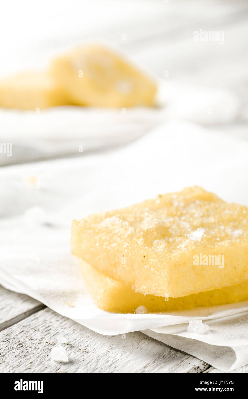 Sgagliozze, Traditional Italian Street Food from Bari: Fried Cornmeal with Salt - Stock Image