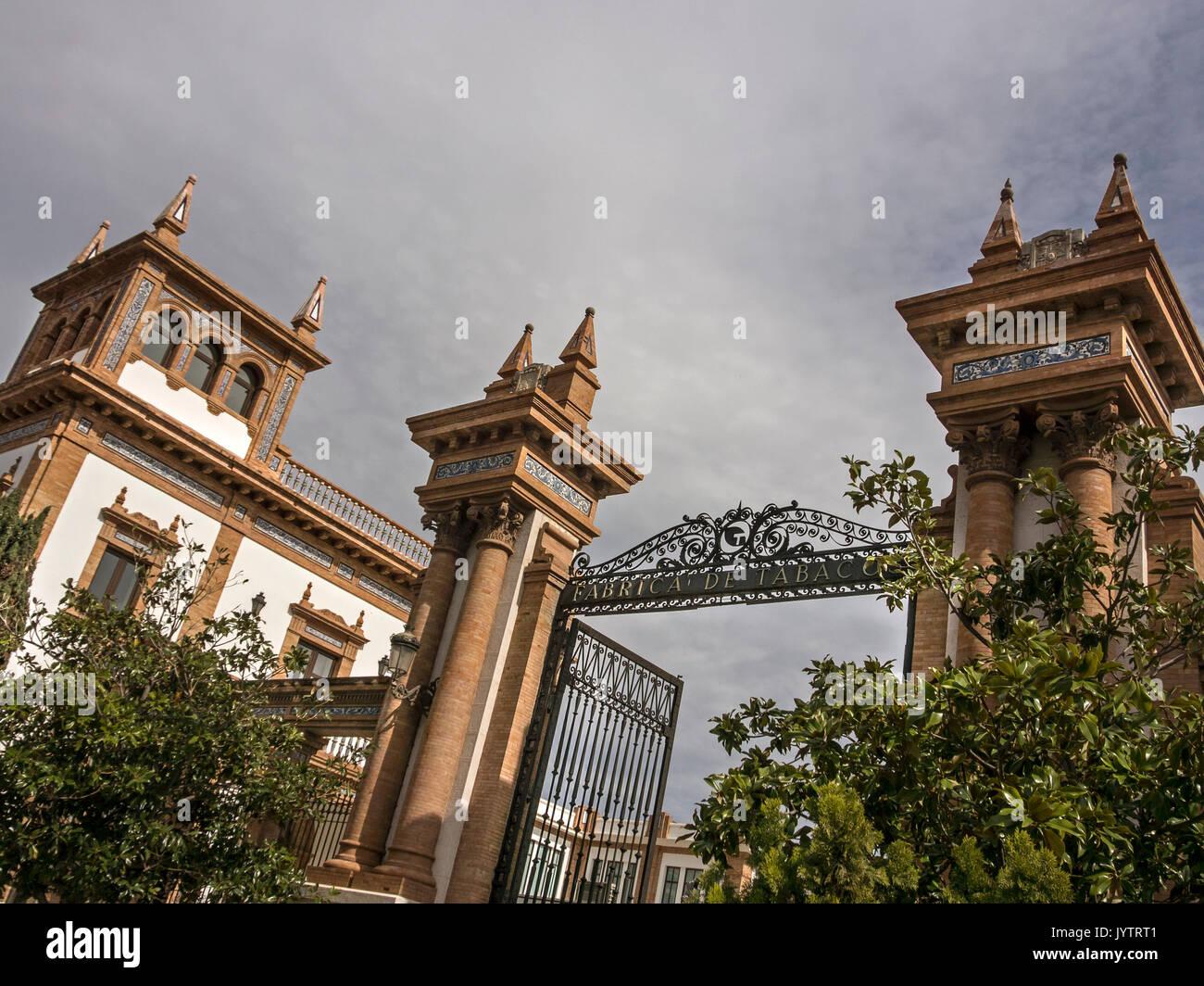 MALAGA, SPAIN: Entrance gates to the Motor Museum - Stock Image